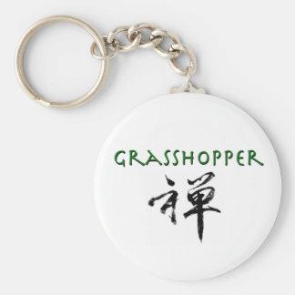"""Grasshopper with """"Zen"""" symbol Basic Round Button Keychain"""