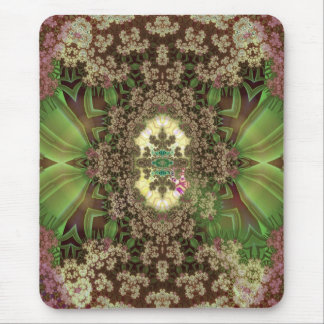 grasshoppers among drying flowers mouse pad