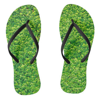 Grassy Adult, Slim Straps Flip Flops