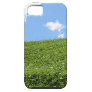 Grassy field at the rolling hill against the sky case for the iPhone 5