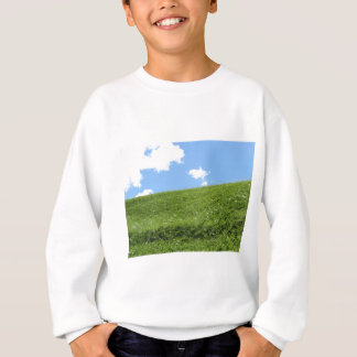 Grassy field at the rolling hill against the sky sweatshirt