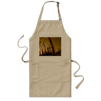 Grassy Field Backlit by the Sunrise Long Apron