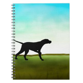 Grassy Field Pointer Dog Notebook