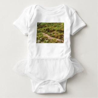 grassy path baby bodysuit