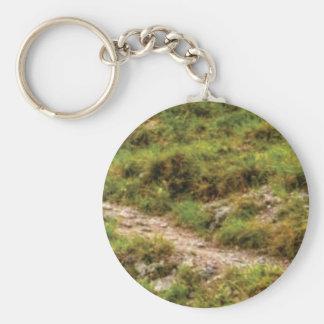 grassy path keychain