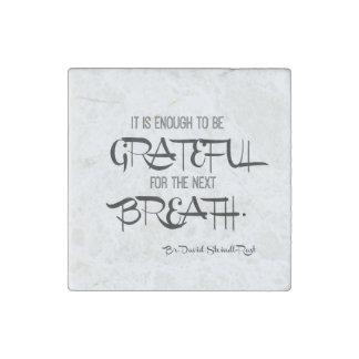 Grateful Breath Stone Magnet