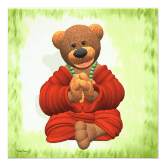 Grateful Buddha Bear Card