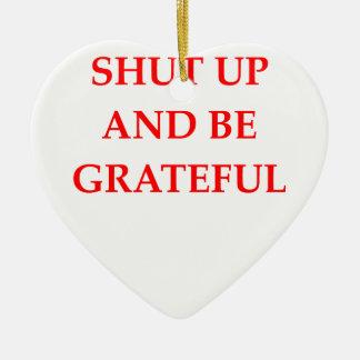 GRATEFUL CERAMIC HEART ORNAMENT