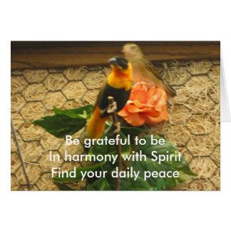 Grateful Haiku/Birds On Card