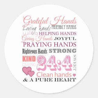 Grateful hands classic round sticker