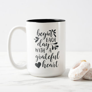 Grateful Heart Jumbo Two-Tone Coffee Mug