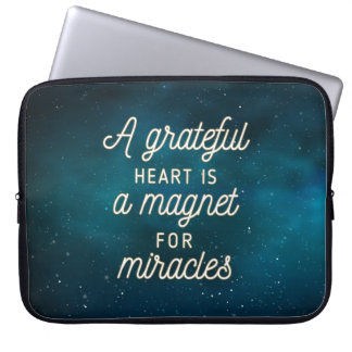 Grateful Heart Magnet for Miracles | Laptop Sleeve