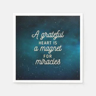 Grateful Heart Magnet for Miracles  | Napkin Disposable Napkin