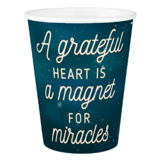 Grateful Heart Magnet for Miracles | Paper Cups
