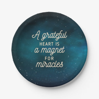 Grateful Heart Magnet for Miracles | Paper Plates