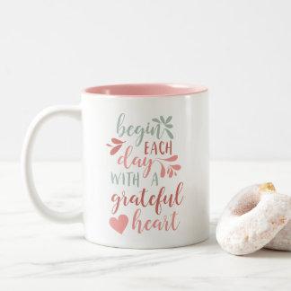 Grateful Heart Two-Tone Coffee Mug