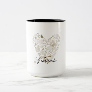 Grateful Heart Two-Tone Coffee Mug