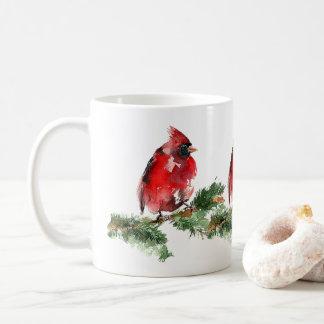 """Grateful Heart"" Watercolor Red Cardinal Mug"