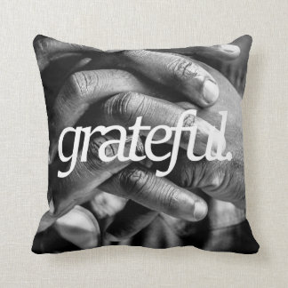grateful. Religious Design 2 Side Print Throw Pillow