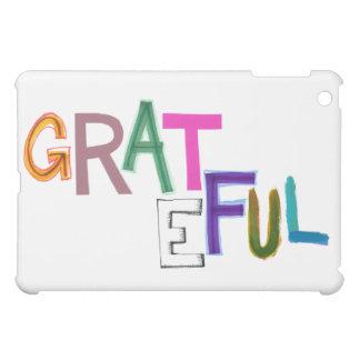 Grateful thank you appreciation modern word art iPad mini cases