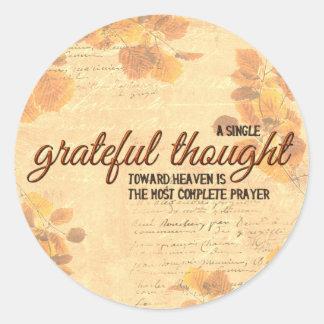 Grateful Thought Classic Round Sticker