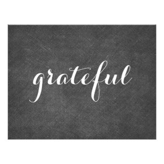 grateful - with chalkboard background letterhead