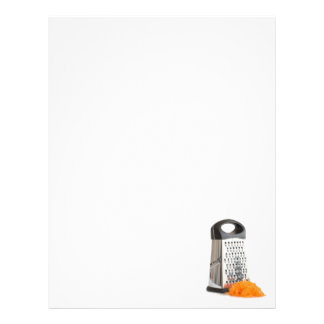 Grater and grated carrot letterhead