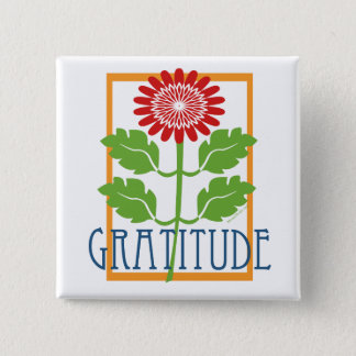 Gratitude 2 Inch Square Button
