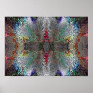 """Gratitude"" Abstract Chakra Meditation Art Poster"