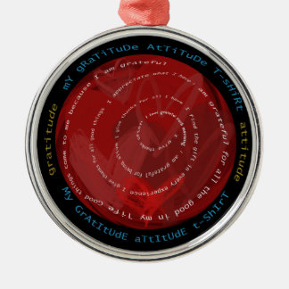Gratitude Attitude Silver-Colored Round Ornament