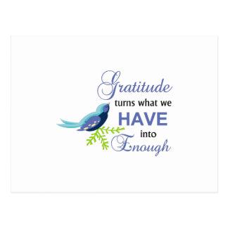 Gratitude Blue Bird Postcard