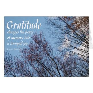 Gratitude Bonhoeffer Quote Blank Card