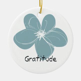 Gratitude Ceramic Ornament