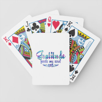 Gratitude Feeds My Soul Bicycle Playing Cards