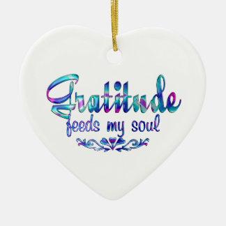 Gratitude Feeds My Soul Ceramic Ornament