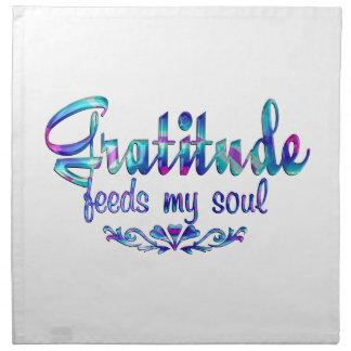 Gratitude Feeds My Soul Napkin