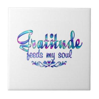 Gratitude Feeds My Soul Tile