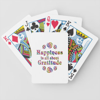 GRATITUDE HAPPINESS BICYCLE PLAYING CARDS
