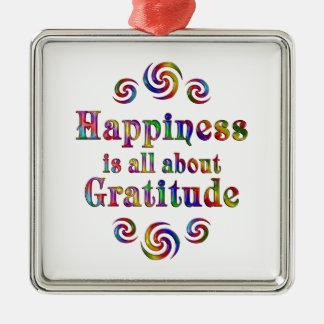 GRATITUDE HAPPINESS METAL ORNAMENT