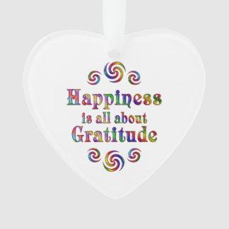 GRATITUDE HAPPINESS ORNAMENT