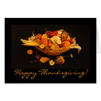 Gratitude Harvest Thanksgiving Card