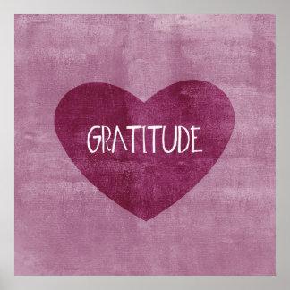 Gratitude Heart Poster