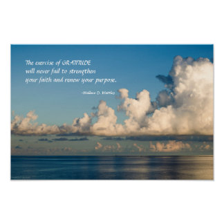 Gratitude in the Clouds Poster