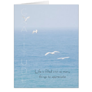 Gratitude Inspirational Birds over Ocean Card
