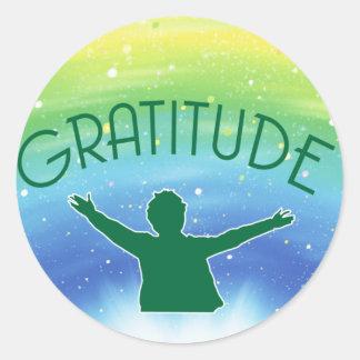 Gratitude Inspirational Round Sticker