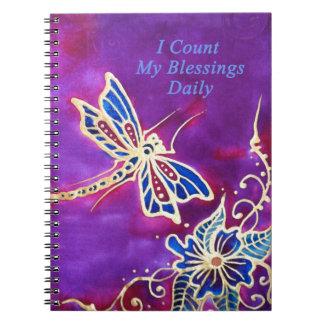 Gratitude journal: Silk Dragonfly Painting Notebook