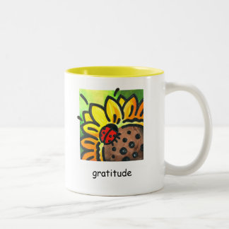 """Gratitude"" Ladybug Mug by Reneé Womack"