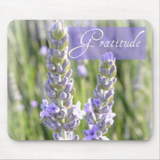 Gratitude Lavender Floral Mousepad