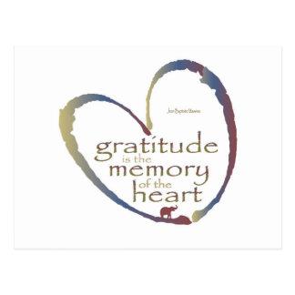 """Gratitude - memory of the heart"" Postcard"