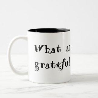 gratitude mug black text